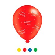 Pack Of 8 Multicoloured Welcome Home Latex Party Balloons - Air Fill or Helium