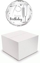 "Round 18"" 70th Birthday Foil Helium Balloon In Box - Age 70 Unisex"