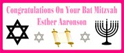 Hot Pink Bat Mitzvah Personalised Landscape Party Banner - Add Your Own Message