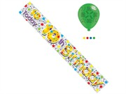Age 10 Unisex Happy Birthday Foil Party Banner & Balloons - 10th Birthday