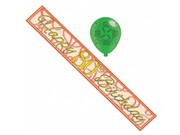 Age 80 Unisex Birthday Foil Party Banner & Balloons - Happy 80th Birthday