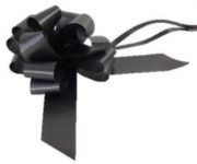 Large Black Pull Bow - Ideal As Gift Wrap, Florist, Wedding Bow