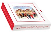 Box Of 10 Traditional Premium Inserted Christmas Cards - Christmas Markets
