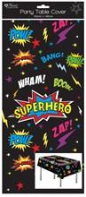 1 Oblong Plastic Children's Party Tablecloth Table Cover 120x180 Boy's Superhero