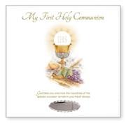 """Ivory Leatherette Holy Communion Photo Album Gift 8.75"""" x 9""""- Holds 168 Photo's"""