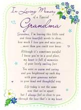 "Loving Memory Open Graveside Memorial Card - Special Grandma 6.5"" x 4.75"""
