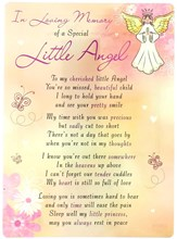 "Loving Memory Open Graveside Memorial Card - Special Little Angel 6.5"" x 4.75"""