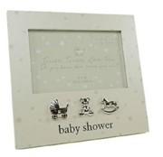 """Bambino Cream Baby Shower Wooden Photo Frame 7"""" x 7.5"""" - Mum To Be, Baby Shower"""