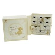 Button Corner Baby Keepsake Box & Drawers - Baby Shower/Birth Gift