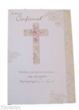 "As You''''re Confirmed Card Roses In Cross 8"" x 5.5"""