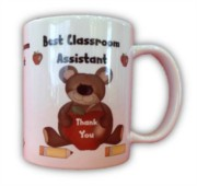 Best Classroom Assistant White 11oz Mug - Thank You Teacher Gift With Box