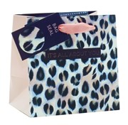 """Mini Small Female Gift Bag - Animal Print It's All about You 5.25"""" x 5.25"""""""