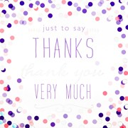 Pack Of 6 Thank You Cards & Envelopes - Lilac Pink & Silver Dots