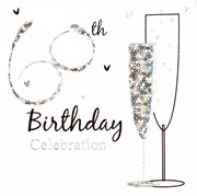 Pack of 6 Holographic 60th Birthday Party Card Invitations & Envelopes