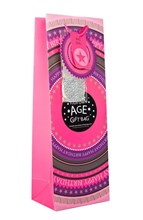 "Bottle Female Gift Bag - Hot Pink Happy Birthday Make Your Own Age 14"" x 5"""