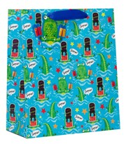 "Medium Birthday Gift Bag - Boy's Snappy Surprise 10""x8.5"""