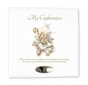 """Ivory Leatherette My Confirmation Photo Album Gift 8.75"""" x 9""""- Holds 168 Photo's"""
