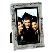 "Juliana Black & Silver Graduation Silver Plated Photo Frame 7.5"" x 5.5"""