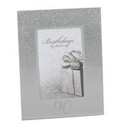 "Juliana 90th Birthday Glittered Mirrored Glass Photo Frame 8.5"" x 7"""