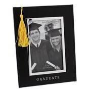 "Juliana Black Graduation Photo Frame & Yellow Cap Tassel 8.5"" x 6.25"" - Gift"