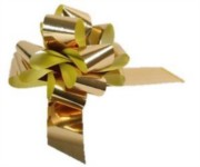 Large Metallic Gold Pull Bow - Ideal As Gift Wrap, Florist, Wedding Bow
