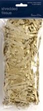 Gold Shredded Tissue Paper (Approx 25g) - Perfect For Gift Bags/Boxes