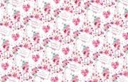 'For Both of You' Champange Wrapping Paper - 1 Sheet & 1 Matching Tag