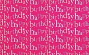 Hot Pink Happy Birthday Wrapping Paper - 1 Sheet & Matching Gift Tag