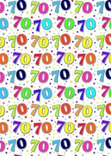Special Age 70 Gift Wrapping Paper 1 Sheet & Matching Gift Tag - 70th Birthday