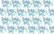 New Baby Boy Gift Wrapping Paper 1 Sheet & Matching Tag - Rainbow Hearts & Stars