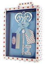 Silver Age 21 Male Keepsake Key & Bright Presentation Box - 21st Birthday Gift