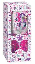 Happy Birthday 30 Celebration Wine Glass & Floral Presentation Box - 30th Gift