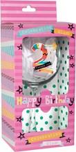 Amazing 21 Celebration Wine Glass & Pink Presentation Box - 21st Birthday Gift