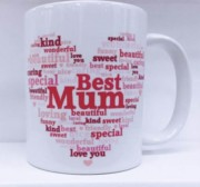 Best Mum Heart White 11oz Mug - Birthday, Mother's Day, Xmas