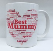 Best Mummy Heart Personalised White 11oz Mug - Birthday, Mother's Day