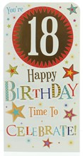 """Money Wallet Gift Card & Envelope - 18th Birthday With Gold Foil 7x3.5"""""""