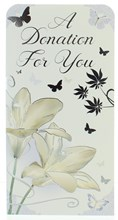 """Money Wallet Gift Card & Envelope - Sympathy Donation With Silver Foil  7x3.5"""""""