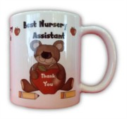 Best Nursery Assistant White 11oz Mug - Thank You Teacher Gift With Box
