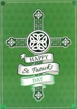 "Happy St Patrick's Day Greetings Card - Church, Window, Tree & Lake 7.5"" x 5.25"""