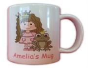 Children's Personalised Princess Mug With Gift Box - Any Name, Birthday, Xmas