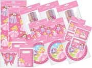 Princess Party Pack 24 Tablecover Napkins Cups Plates Invites Thank You Banner
