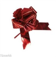 Large Metallic Red Pull Bow - Ideal As Gift Wrap, Florist, Wedding Bow