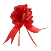 Large Plain Red Pull Bow - Ideal As Gift Wrap, Florist, Wedding Bow