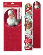 Set Of 2 Traditional Christmas Card Holders - Santa Designs