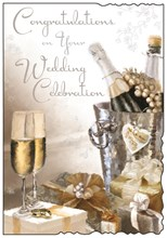 "Jonny Javelin Wedding Day Greetings Card - Champagne Bucket 9"" x 6.25"""