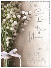 "Jonny Javelin Loss Of Mum Sympathy Greetings Card - Flower Posy 7.25"" x 5.5"""