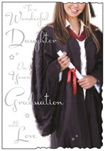 "Jonny Javelin Daughter Graduation Greetings Card - Girl & Certificate 9"" x 6.25"""
