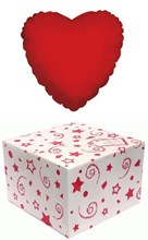 "Red Heart 18"" Foil Helium Balloon In Box - Any Occasion Valentine's Anniversary"
