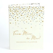 Ivory Wedding Planner With Gold & Sliver Hearts - From Miss To Mrs!!