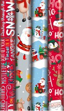20m (4x5m) Christmas Gift Wrapping Paper - Children's Santa and Novelty Designs